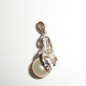 Antique Jewelry - Antique 14kt Gold Diamond Pearl Pendant